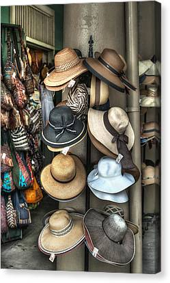 French Market Hats For Sale Canvas Print by Brenda Bryant