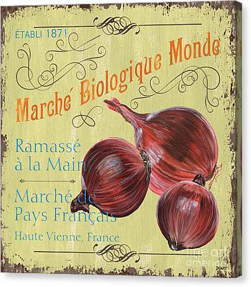 Onion Canvas Print - French Market Sign 4 by Debbie DeWitt