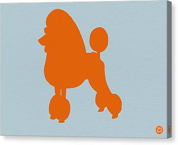 French Poodle Orange Canvas Print by Naxart Studio