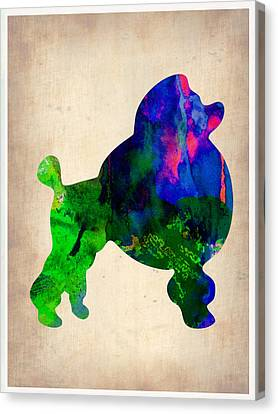 French Poodle Watercolor Canvas Print by Naxart Studio