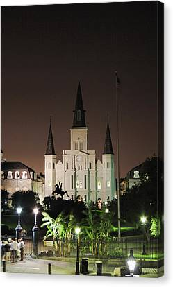 French Quarter Ambiance Canvas Print by James  Bond
