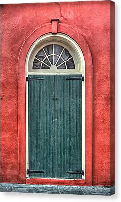 Bryant Canvas Print - French Quarter Arched Door by Brenda Bryant