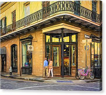 Wrought Iron Bicycle Canvas Print - French Quarter Art - Paint by Steve Harrington