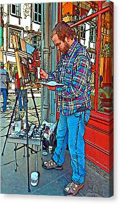 French Quarter Artist Painted Canvas Print by Steve Harrington