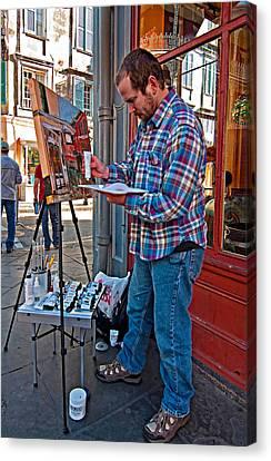 French Quarter Artist Canvas Print by Steve Harrington