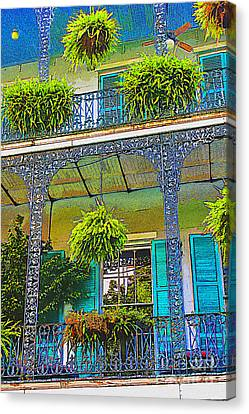 French Quarter Balcony 1 Canvas Print by David Doucot