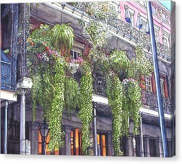 French Quarter Balcony 379 Canvas Print by John Boles