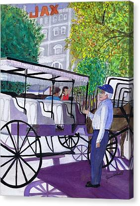 French Quarter Buggy Tour Canvas Print
