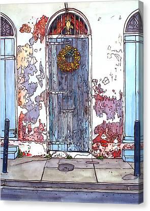 French Quarter Door Canvas Print by John Boles