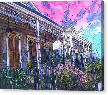 French Quarter Houses 377 Canvas Print by John Boles
