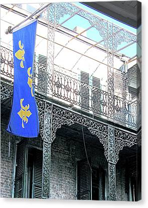Canvas Print featuring the photograph French Quarter Nola by Lizi Beard-Ward