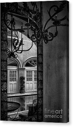 French Quarter Reflection Canvas Print by Kathleen K Parker