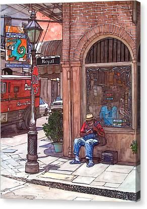 French Quarter Royal St. Canvas Print by John Boles