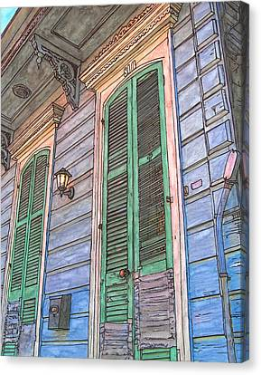 French Quarter Shutters 368 Canvas Print by John Boles