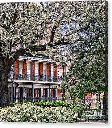 French Quarter Spring Canvas Print by Olivier Le Queinec