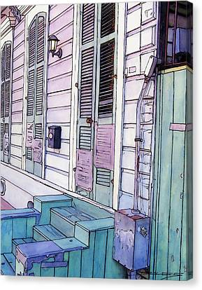 French Quarter Stoop 213 Canvas Print by John Boles