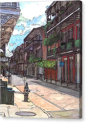 French Quarter Street 372 Canvas Print by John Boles