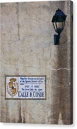 French Quarter Street Sign Canvas Print by Ray Devlin