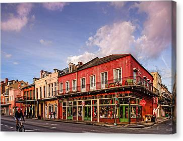 French Quarter Waking Up To A New Morning - New Orleans Louisiana Canvas Print by Silvio Ligutti
