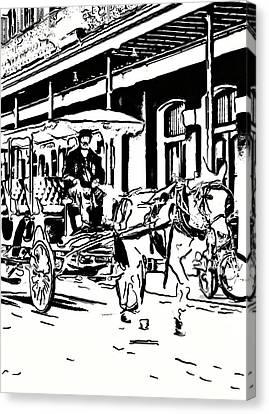 French Quarter Wheels 2 Canvas Print by Steve Harrington