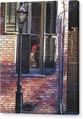 French Quarter Window 384 Canvas Print by John Boles