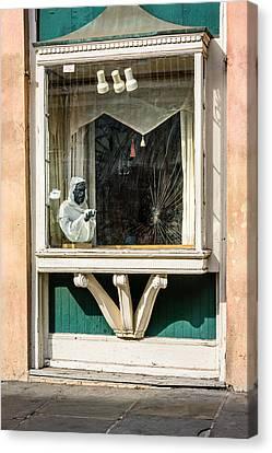 French Quarter Window Display Canvas Print