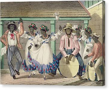 Drummer Canvas Print - French Set-girls, Plate 7 From Sketches Of Character..., 1838 Colour Litho by Isaac Mendes Belisario
