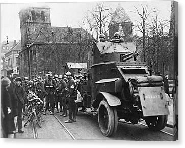 French Soldiers Occupy Essen Canvas Print