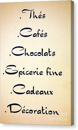 French Store Sign Canvas Print by Olivier Le Queinec