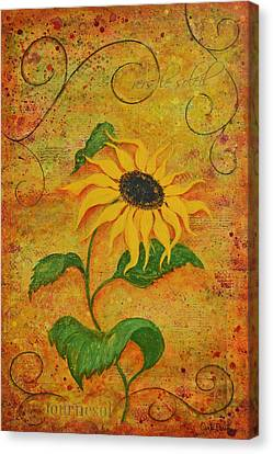 French Sunflower Canvas Print by Carla Parris