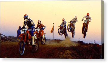 French Supercross '88 Canvas Print