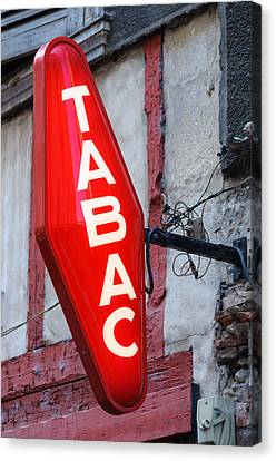French Tobacconist Sign Canvas Print by Dutourdumonde Photography