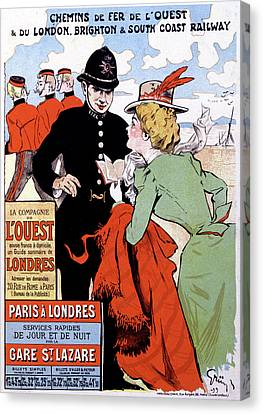 French Travel Advertising Poster Canvas Print by Cci Archives