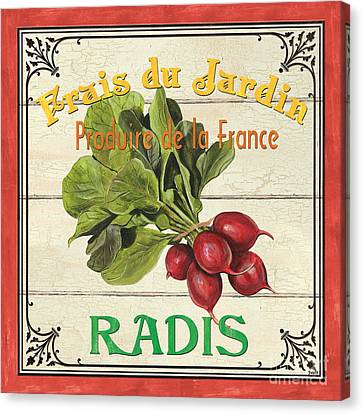 French Vegetable Sign 1 Canvas Print
