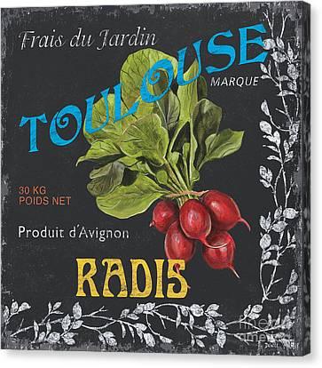 Labelled Canvas Print - French Veggie Labels 3 by Debbie DeWitt