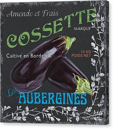 French Veggie Labels 4 Canvas Print by Debbie DeWitt