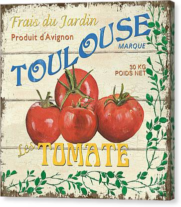 French Veggie Sign 3 Canvas Print by Debbie DeWitt