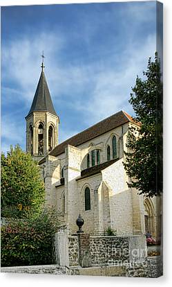 Pointy Canvas Print - French Village Church by Olivier Le Queinec