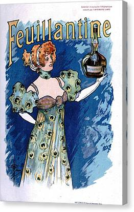 French Vintage Liquor Advert Canvas Print by Georgia Fowler