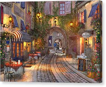 French Walkway Canvas Print by Dominic Davison