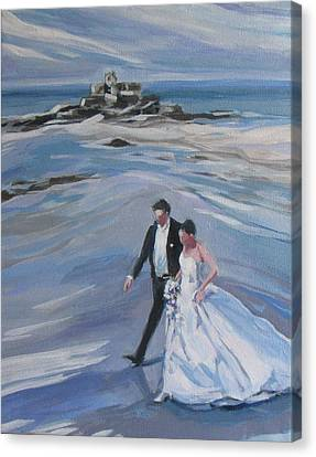 French Wedding Canvas Print by Janis Commentz