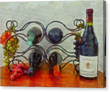 French Wine Rack Canvas Print by Dan Sproul