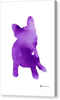 Frenchie Abstract Dog Silhouette Canvas Print
