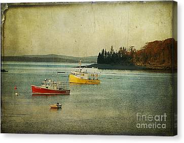 Frenchmen's Bay Fishing Boats Canvas Print