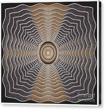 Canvas Print featuring the digital art Frenzy by Iris Gelbart