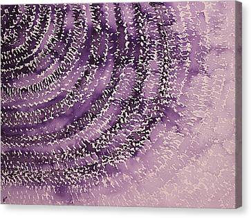 Frequency Increase Original Painting Sold Canvas Print by Sol Luckman