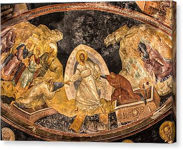 Fresco In Chora Church In Istanbul Canvas Print