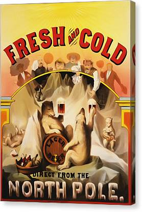 Fresh And Cold Direct From The North Pole Canvas Print by Bill Cannon