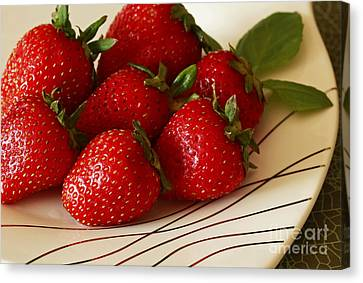 Fresh Berries Canvas Print by Inspired Nature Photography Fine Art Photography