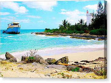 Fresh Creek Beach Canvas Print by Carey Chen